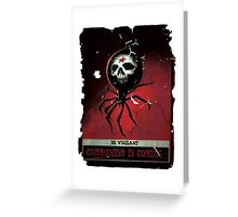COMMUNISM SPIDER FALLOUT 4 Greeting Card