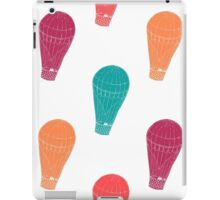 Pattern with hot air balloons iPad Case/Skin