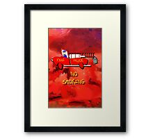 Fire Truck - No Smoking Framed Print