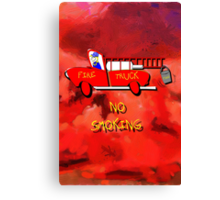 Fire Truck - No Smoking Canvas Print