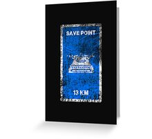 RESIDENT EVIL SAVE POINT Greeting Card