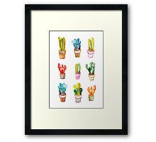 Cactus collection Framed Print