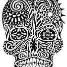 Tribal Pattern Skull by one-in-the-eye