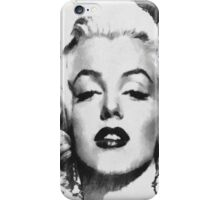 Marilyn -Grayscale  iPhone Case/Skin