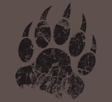 Bear Claw Print Black by Sirkib