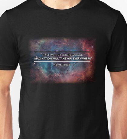 Einstein - Imagination Will Take You Everywhere Unisex T-Shirt