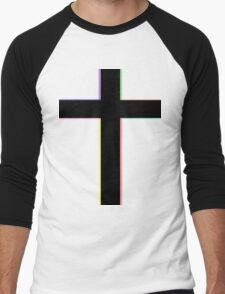 CROSS & COLORS Men's Baseball ¾ T-Shirt