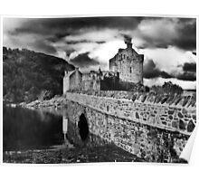 Eilean Donan Castle - Mono Poster