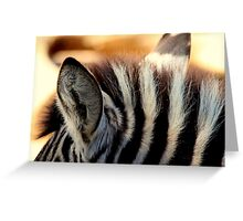 Zebra Markings 1 Greeting Card