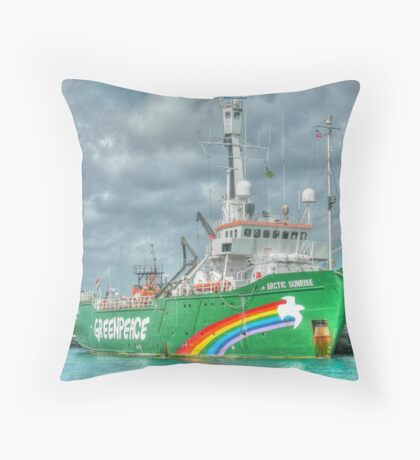 "The ""Artic Sunrise"" docked at Prince George Wharf in Nassau Harbour, The Bahamas Throw Pillow"