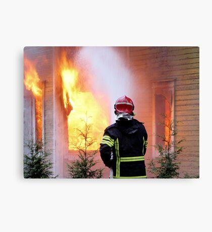 15.11.201212: Fireman at Work III Canvas Print