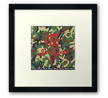 Twice Camo (Jeongyeon) Framed Print