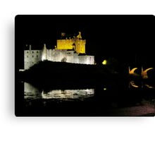Eilean Donan Castle - Midnight  Canvas Print