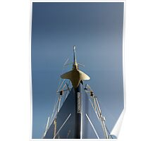 Bow of sailing yacht in boatyard, Salcombe, Devon, UK Poster