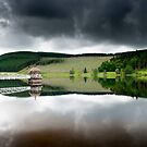 Valve Tower, Talla Reservoir, Scottish Borders on a Rainy Day by Iain MacLean