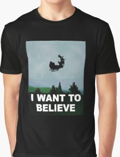 I Want To Believe (Santa) Graphic T-Shirt