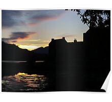 Eilean Donan Castle Sunset n Silhouettes Poster