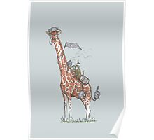 Giraffes Love College Poster