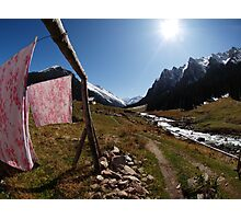 Mountain Fresh Laundry Photographic Print
