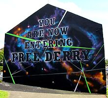 Free Derry Wall - Graffiti Style by NiallMcC