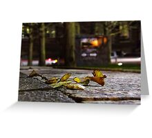 Busy Leaf Greeting Card