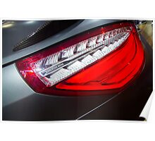 Mercedes-Benz SL 63 AMG Bi-Turbo Back Light [ Print & iPad / iPod / iPhone Case ] Poster
