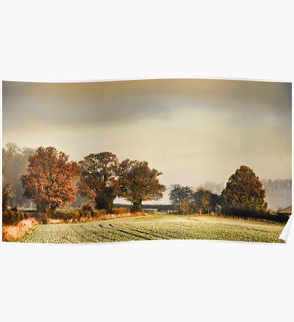 Autumn Mist - Beggars Lane Tring Poster