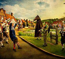 Morris Men Dance in Aldbury  by hobgoblin