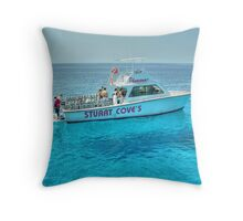 Diving Offshore of New Providence Island in The Bahamas Throw Pillow