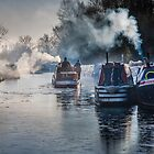 Winter canal scene at Bulbourne by hobgoblin