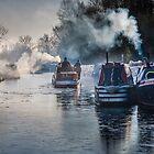 Winter canal scene at Bulbourne by hobgoblin