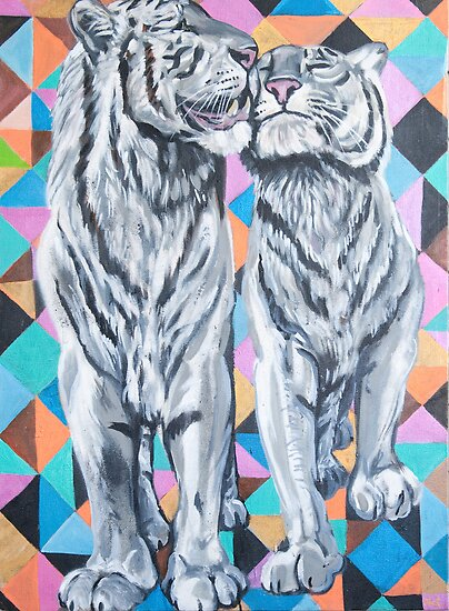 Tiger Love by AC-Paintings