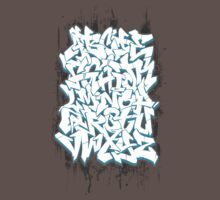 Graffiti Alphabet One Piece - Short Sleeve