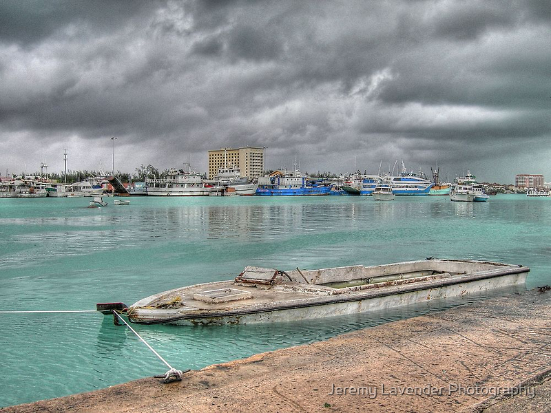 Stormy day in Nassau Harbour, The Bahamas by Jeremy Lavender Photography