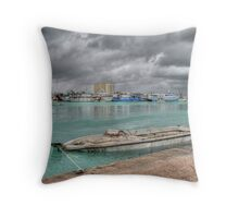 Stormy day in Nassau Harbour, The Bahamas Throw Pillow