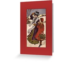 Holiday Stroll Christmas Card Greeting Card