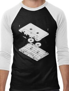 Exploded Cassette Tape  Men's Baseball ¾ T-Shirt