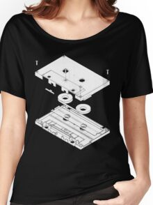 Exploded Cassette Tape  Women's Relaxed Fit T-Shirt