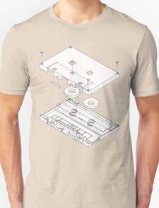 Exploded Cassette Tape  Unisex T-Shirt