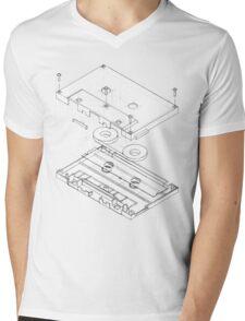 Exploded Cassette Tape  Mens V-Neck T-Shirt