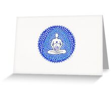 Big Mother blue Greeting Card