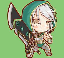 Riven Redeemed League of Legends (chibi) by eucliffe