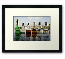 booze on the river nile Framed Print