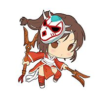 Akali League of Legends (chibi) Photographic Print