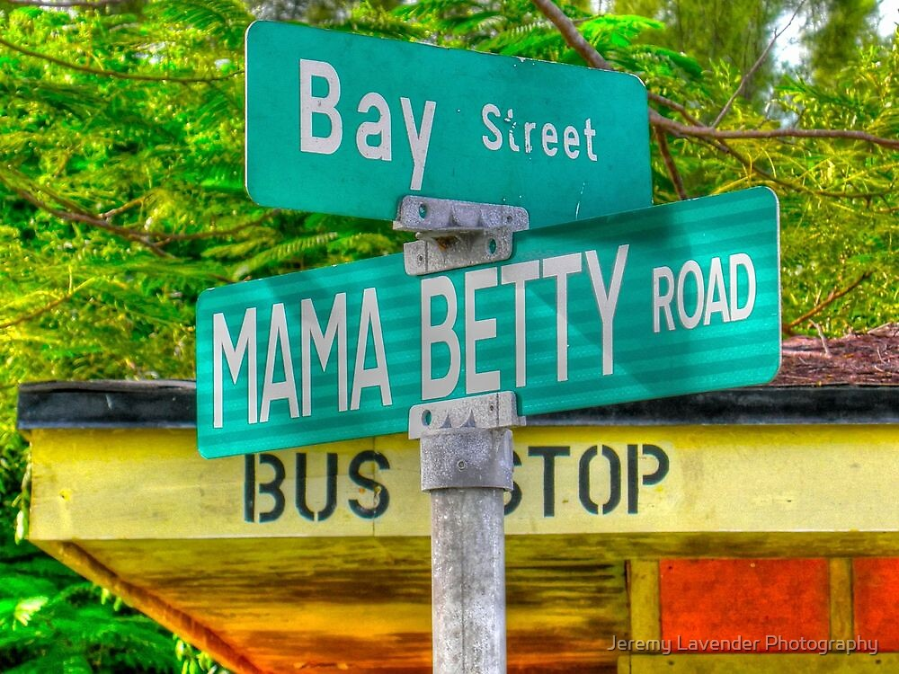 Mama Betty Road at the Corner of Bay Street in North Andros Island, The Bahamas by Jeremy Lavender Photography