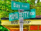 Mama Betty Road at the Corner of Bay Street in North Andros Island, The Bahamas by 242Digital
