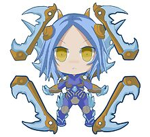 Irelia Ice Blade (chibi) League of Legends by eucliffe