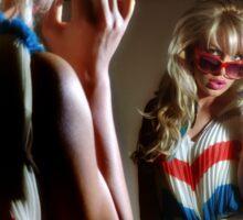 Sexy girl in the mirror Sticker