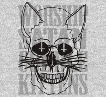Worship Satan, Cuddle Kittens. Kids Tee