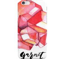 Garnet with text iPhone Case/Skin
